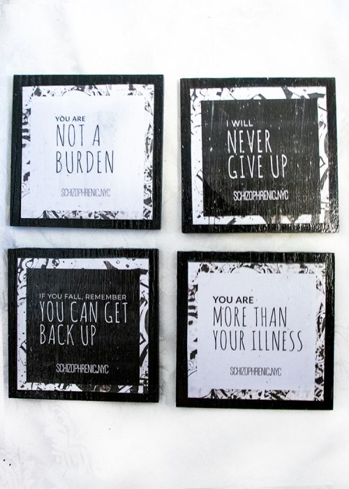 black and white cute coasters