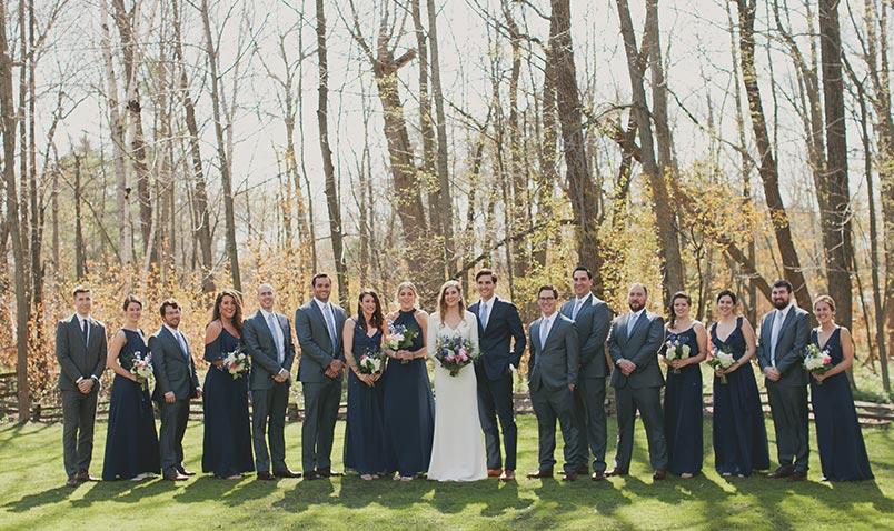 Spring Wedding Schlitz Audubon Bridal Party