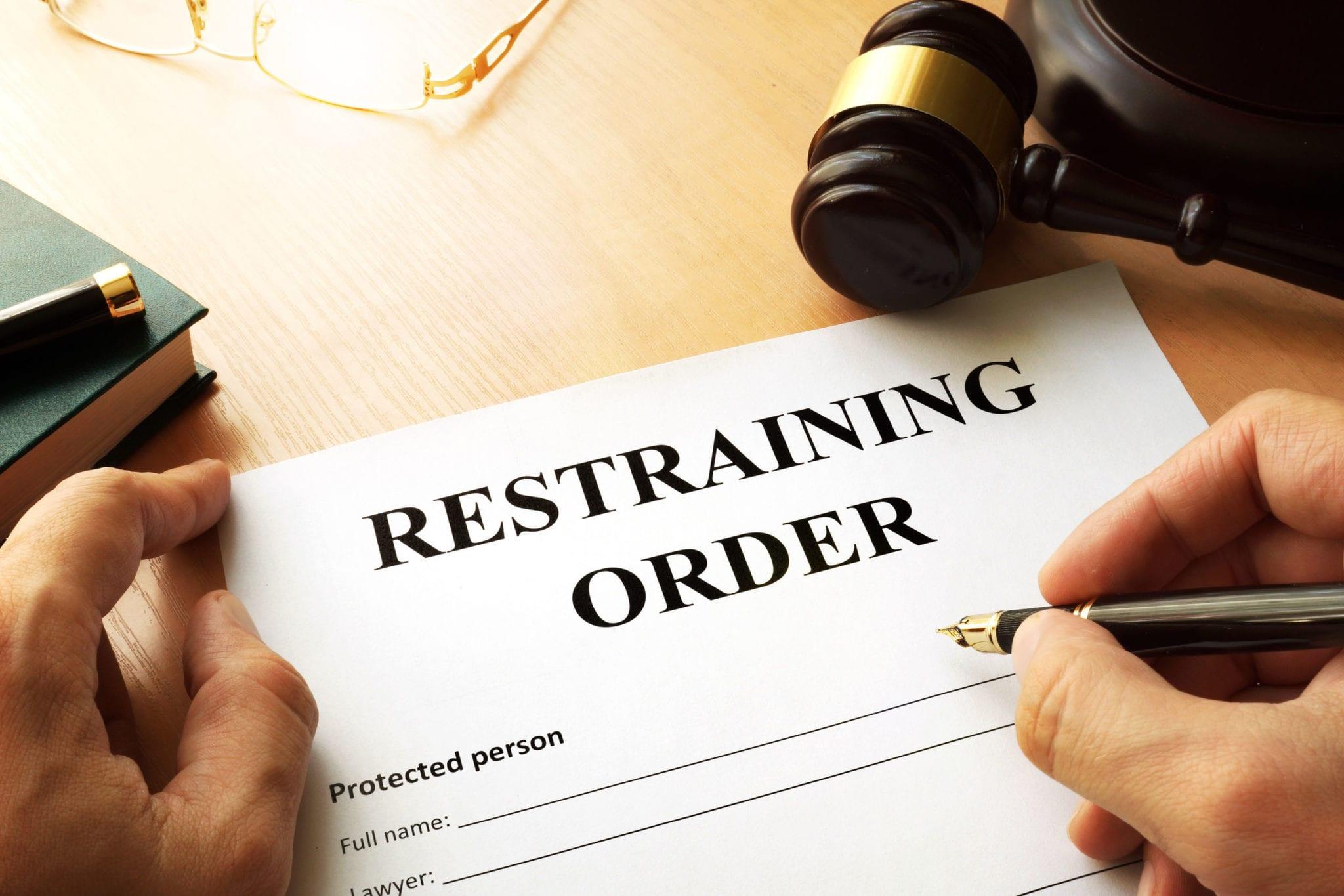 Orders Law Restraining Enforcement