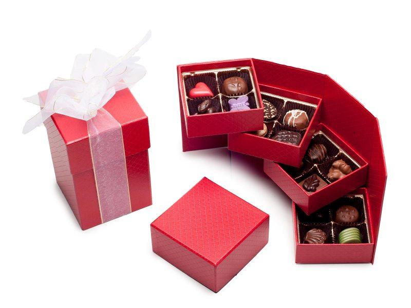 hinged tower chocolate box