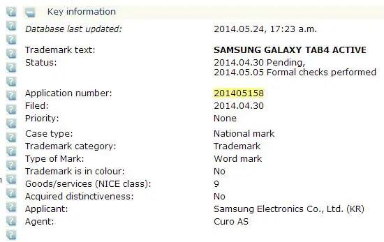 Samsung, Galaxy Tab 4 Active, Samsung Galaxy Tab 4 Active