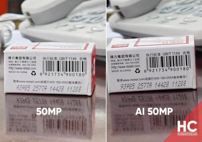 Huawei P40-Reihe AI 50 MP Modus Ergebnisse