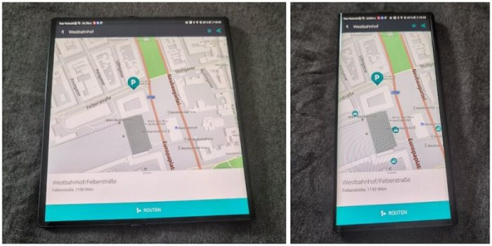 Huawei Mate Xs Maps