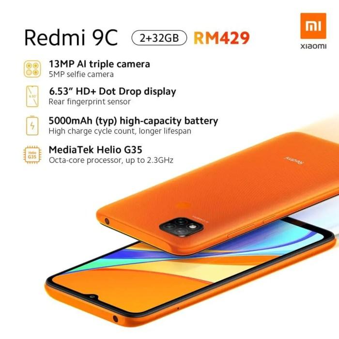 Redmi 9C Spezifikationen