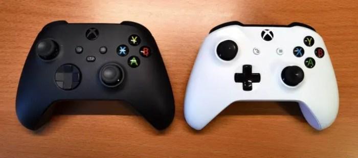 Der Xbox Series X/S Controller (links) im Vergleich zu seinen Vorgänger