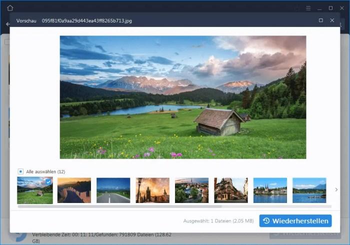 EaseUS Data Recovery Wizard Vorschau der Fotos