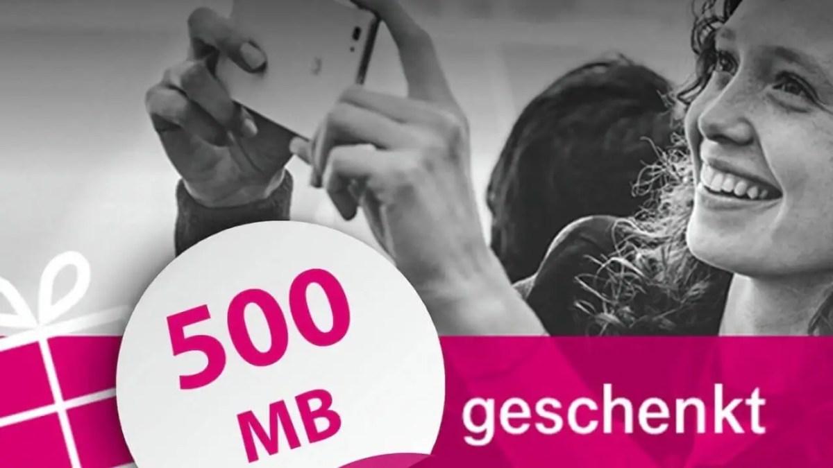 Deutsche Telekom 500 MB geschenkt