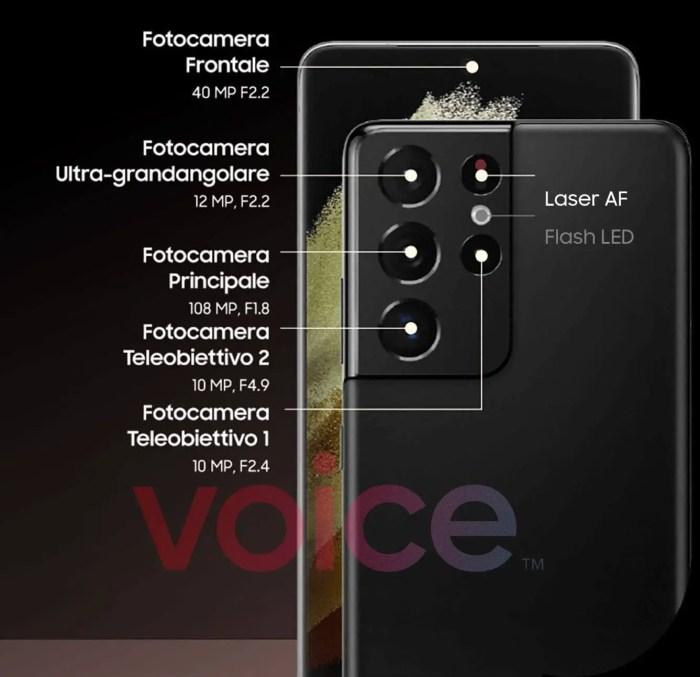Samsung Galaxy S21 Ultra Kamera-Specs