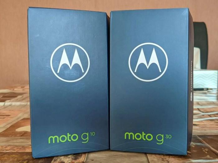 Motorola Moto G10 und Moto G30 Box