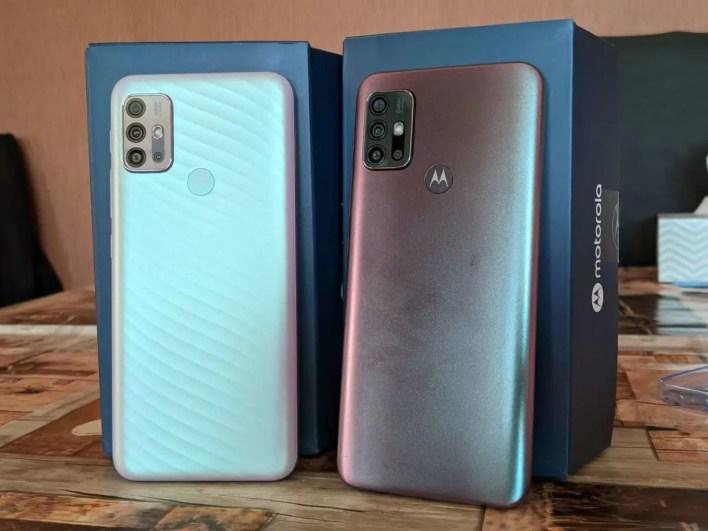 Motorola Moto G10 und Moto G30 Rückseite