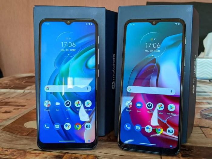 Motorola Moto G10 und Moto G30 Front
