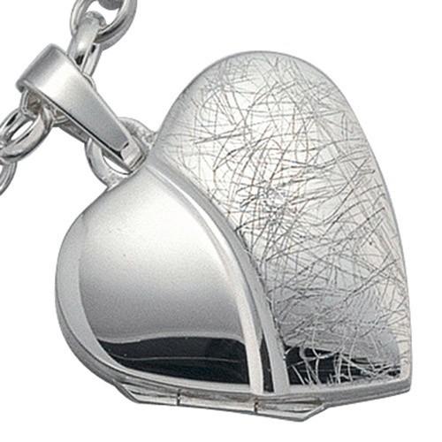 Herz - Medaillon Amulett Anhänger zum Öffnen 925 Silber