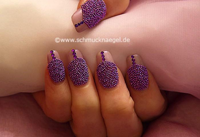 Manicura Con Efecto Caviar Diseños De Uñas
