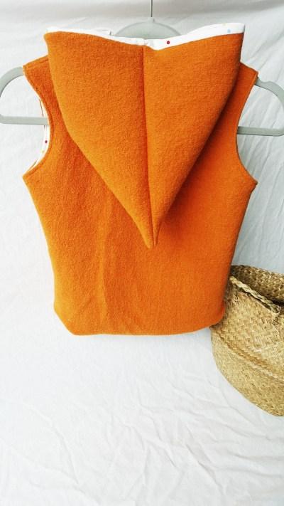 Wollwalk Weste orange