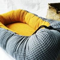 Baby-Cocoon Senf/Grau