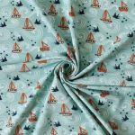 Jersey Segelboote 95% Baumwolle 5% Elasthan