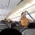 Party im Flugzeug