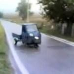 Driften mit dem Piaggio