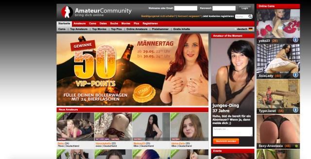Amateurcommunity Portal für Sextreffen