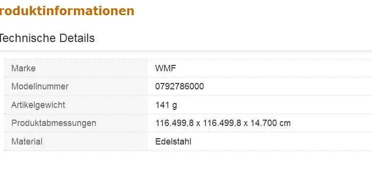 WMF Schnellkochtopf-Einsatz gelocht