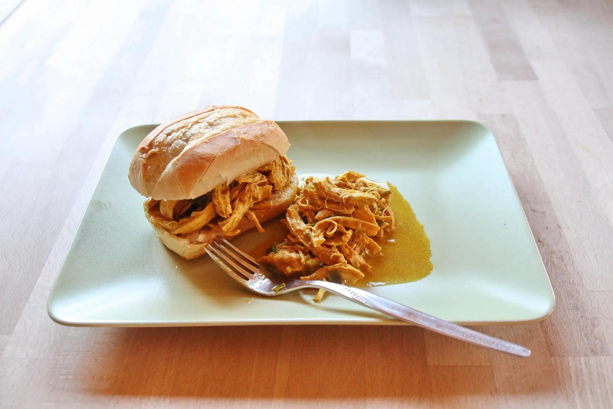 Tandoori Pulled Chicken im Instant Pot