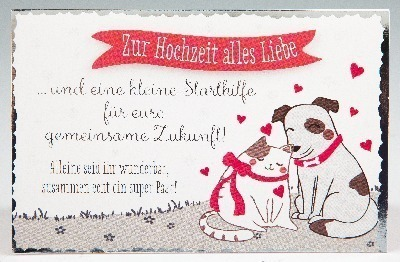 Karte Zur Hochzeit Herzblumen