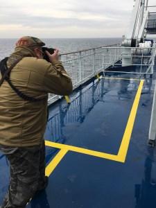 Chris beim Shooting an Bord der Fähre Oscar Wilde