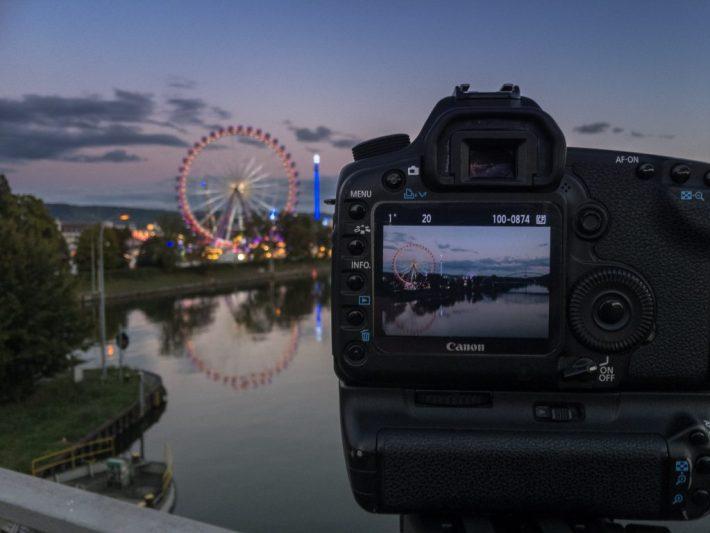 Meine Kamera bei der Langzeitbelichtung mit Live View. Workshop Langzeitbelichtung und Nachtfotografie