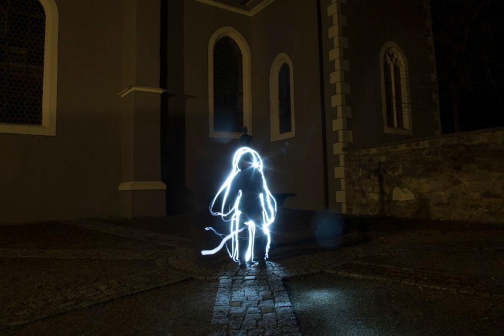 Lightpaiting St. Luzen Silhouette