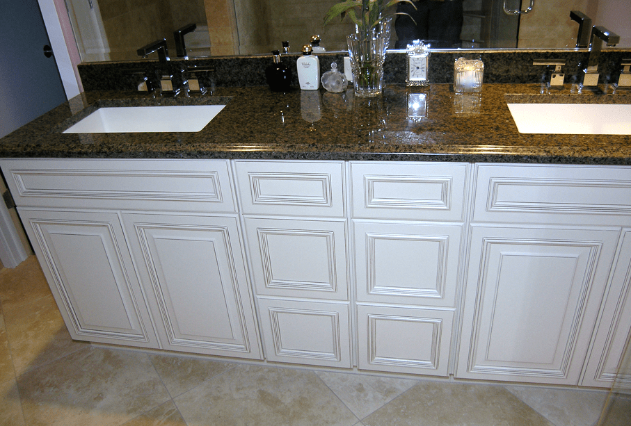 white bathroom cabinets - schoeman enterprises