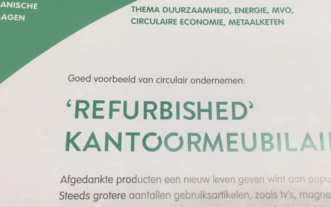 'Refurbished' kantoormeubilair goed voorbeeld van circulair ondernemen