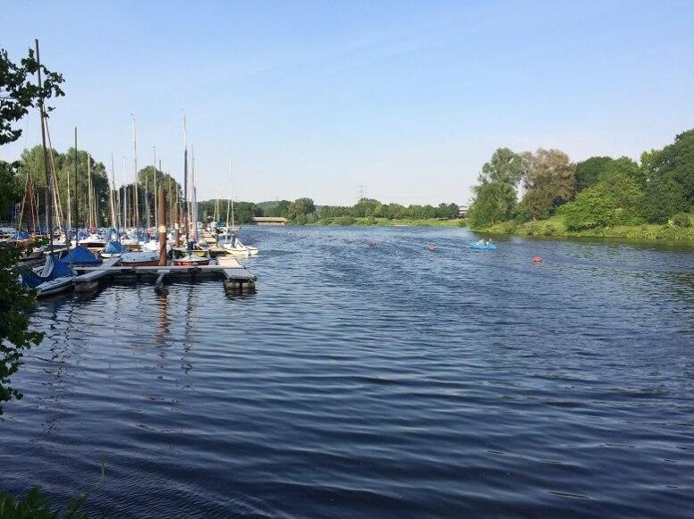Boote am Kemnader See