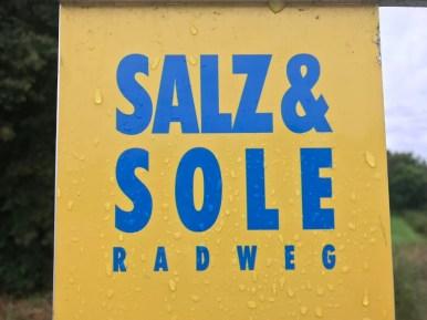 Beschilderung Salz und Sole Radweg