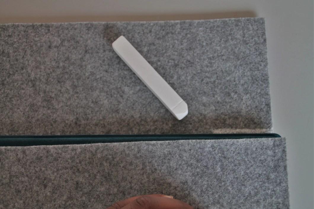 Tablet Tasche Filz selber nähen
