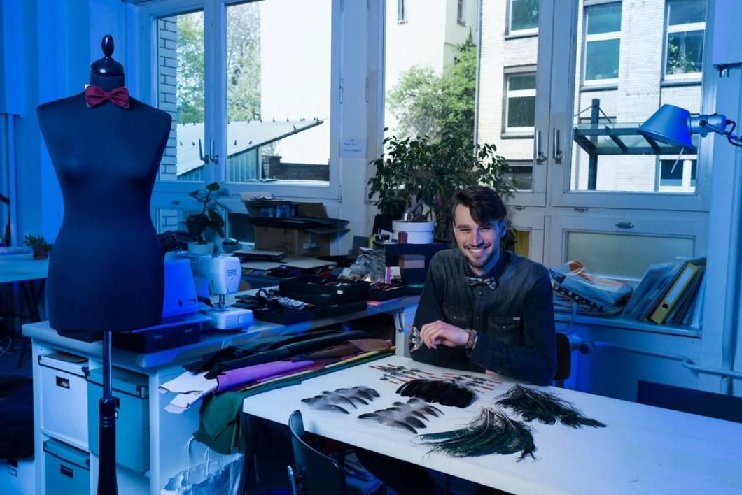 Daniel Goletz in seinem Atelier - Showroom in Berlin Kreuzberg