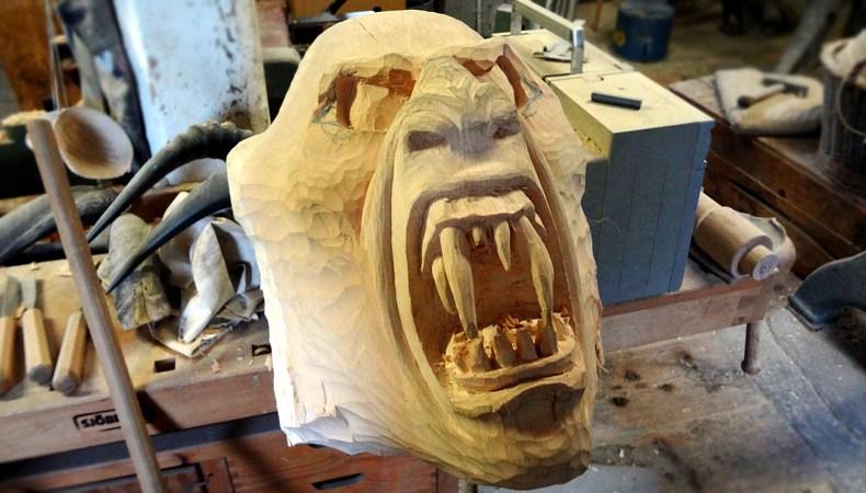 Tuifl-Maske Krampuslauf Tirol