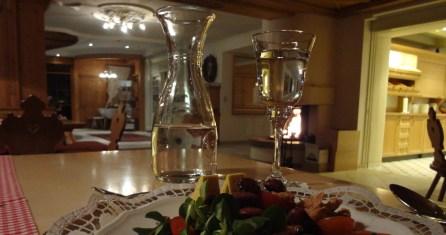 Abendessen im Hotel Wiesenhof
