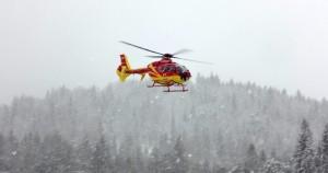 Hubschrauber über Christlum am Achensee