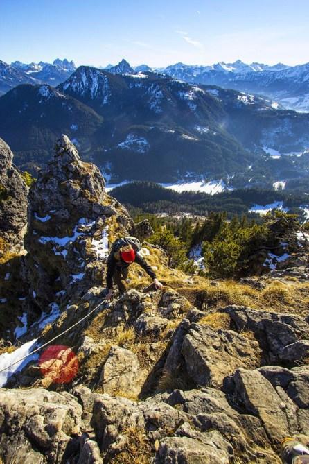 Auf der Wanderung im Tannheimer Tal
