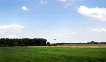 Blick zum Flughafen München
