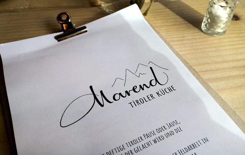Speisekarte Restaurant Marend Hamburg