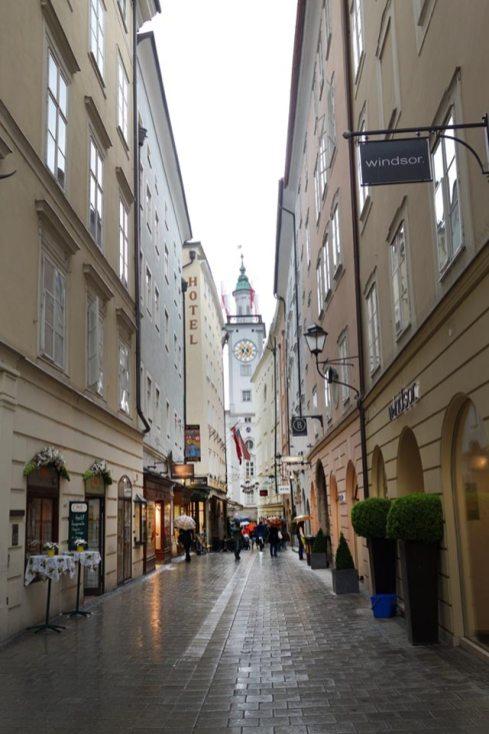 Gasse in der Salzburger Altstadt