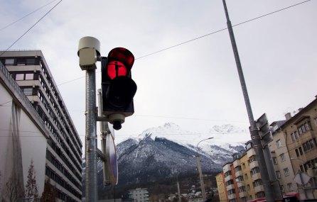 Skifahrer - Ampelmännchen Innsbruck