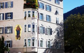 Hauswand in Bozen