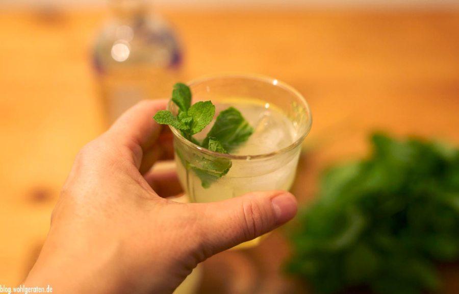 Wodka mit Ingwer und Zitrone