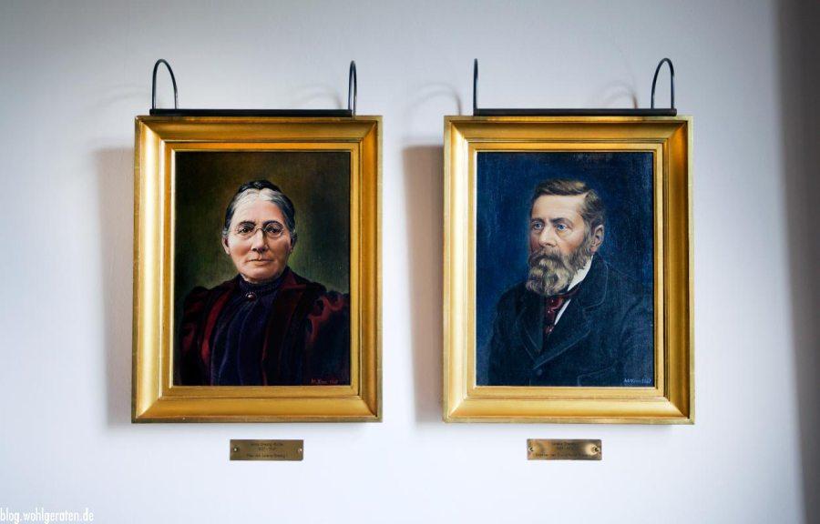Gründerpaar Grandhotel Kronenhof Pontresina