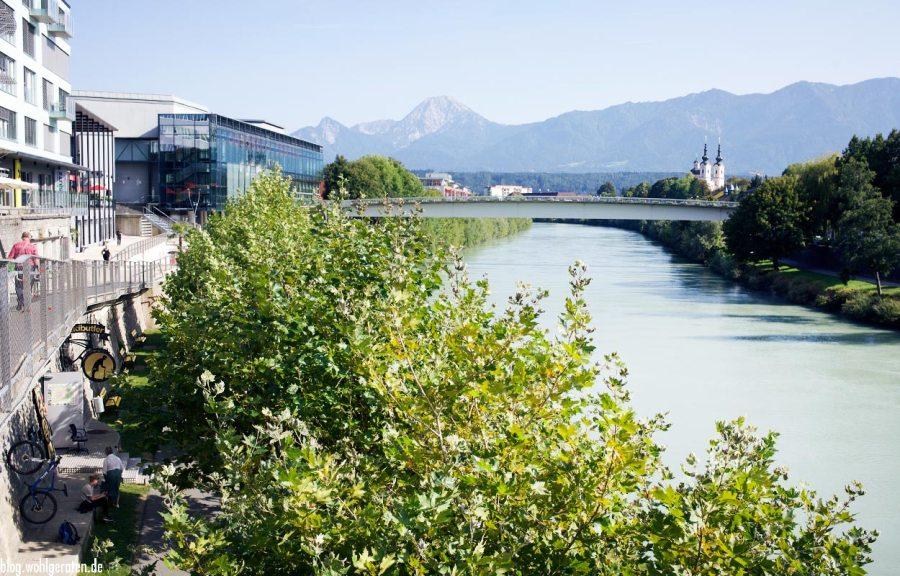 Villach Draubrücke Aussicht