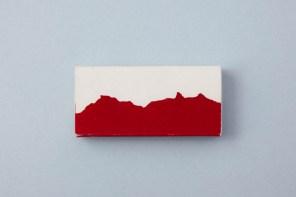 Streichholzschachtel mit Bergen