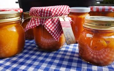 Gläser mit Aprikosenmus - Marillenmus