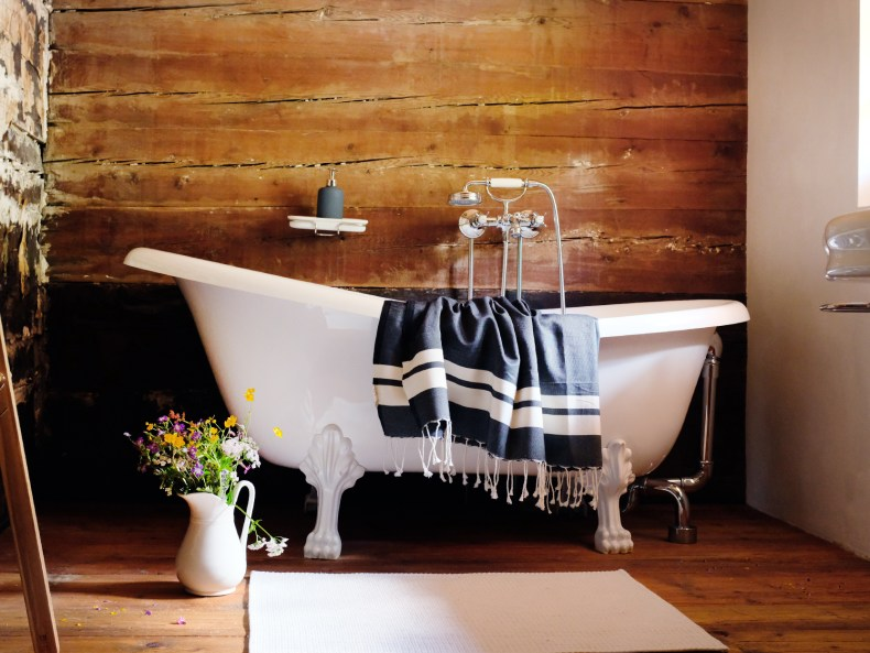 Badewanne im Obergeschoss